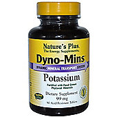 Natures Plus Dyno Mins Potassium 99mg 90 Tablets