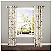 "Poppy Floral Eyelet Curtains W162xL229cm (64x90""), Natural"