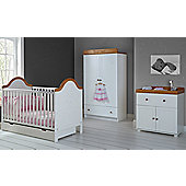 Obaby B is for Bear 3 Piece Double Furniture Set - White