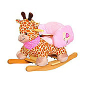 Homcom Kids Rocking Animal Infant Rocker Plush Seat w/ Safety Belt (Giraffe)