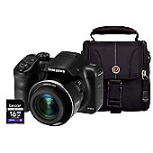 Samsung WB1100F Smart Digital Camera, Black, 16.2MP, 35x Optical Zoom, 16GB SD Card & Case