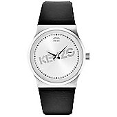 Kenzo Dix-Huit Unisex Black Leather Watch 9600301