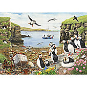 Puffin Parade - Extra Large Puzzle