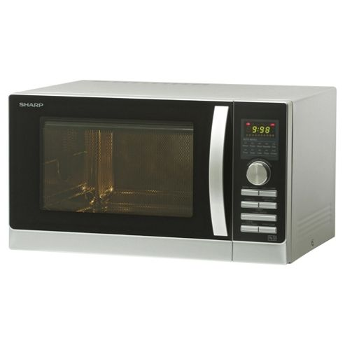 Sharp R842SLM 25L 900W Combination Microwave With Grill & Convection Oven - Silver