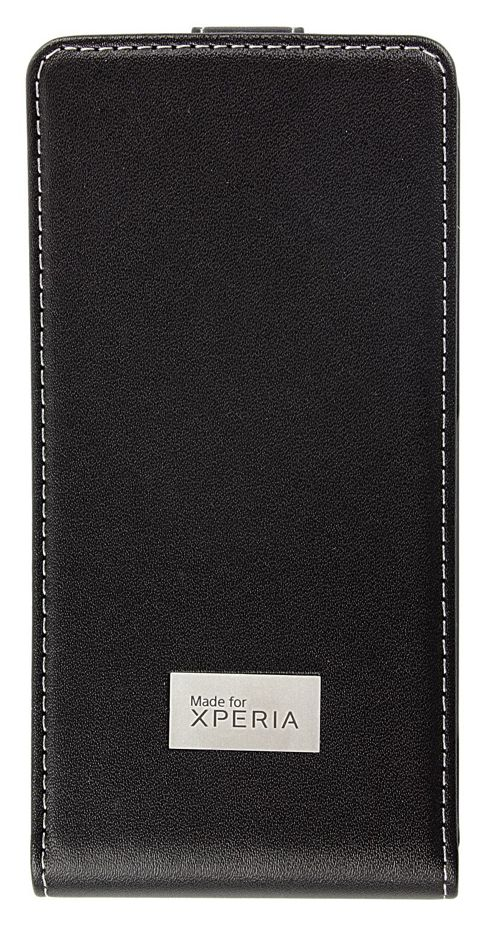 Sony Original Leather Flip Case for Xperia T - Black