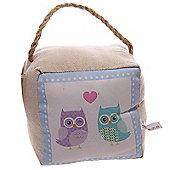 Lauren Billingham Love Owls Printed Fabric Doorstop