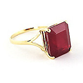 QP Jewellers 6.50ct Ruby Auroral Ring in 14K Gold