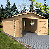13ft x 18ft (4.2m x 5.7m) Garage (Double Glazing) 44mm T&G