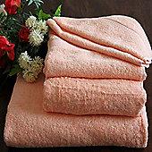 Homescapes Turkish Cotton Peach Bath Towels Set