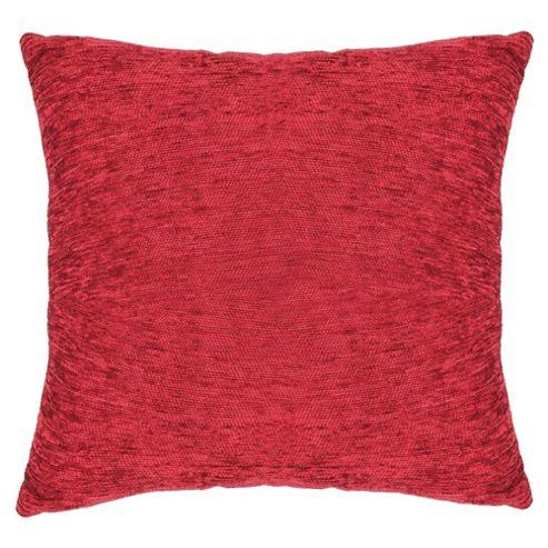 Tesco Plain Chenille Cushion, Berry