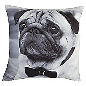 Tesco Fancy Pug Cushion