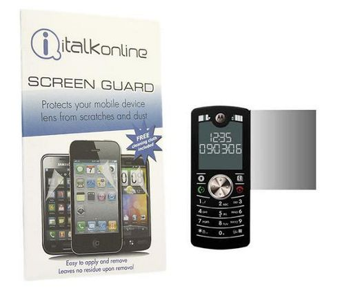 iTALKonline S-Protect LCD Screen Protector and Micro Fibre Cleaning Cloth - For Motorola F3