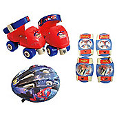 Spectacular Spider-Man Quad Skates & Protection Set
