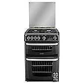 Cannon by Hotpoint CH60GCIK, Freestanding, Gas Cooker, 60cm, Black, Twin Cavity, Double Oven
