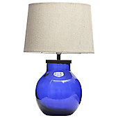 Aldeburgh Recycled Glass Table Lamp, Indigo