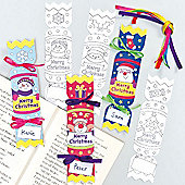 Personalised Christmas Cracker Bookmarks for Children to Decorate (Pack of 12)