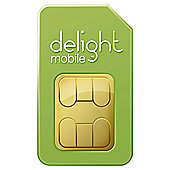 Delight Mobile Pay as you go SIM Pack Includes £20 National Credit