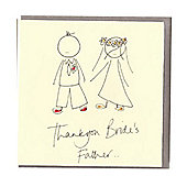 Bride's Father Wedding Card and Gift Tag