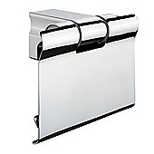 Sonia S1 Toilet Roll Holder With Flap in chrome