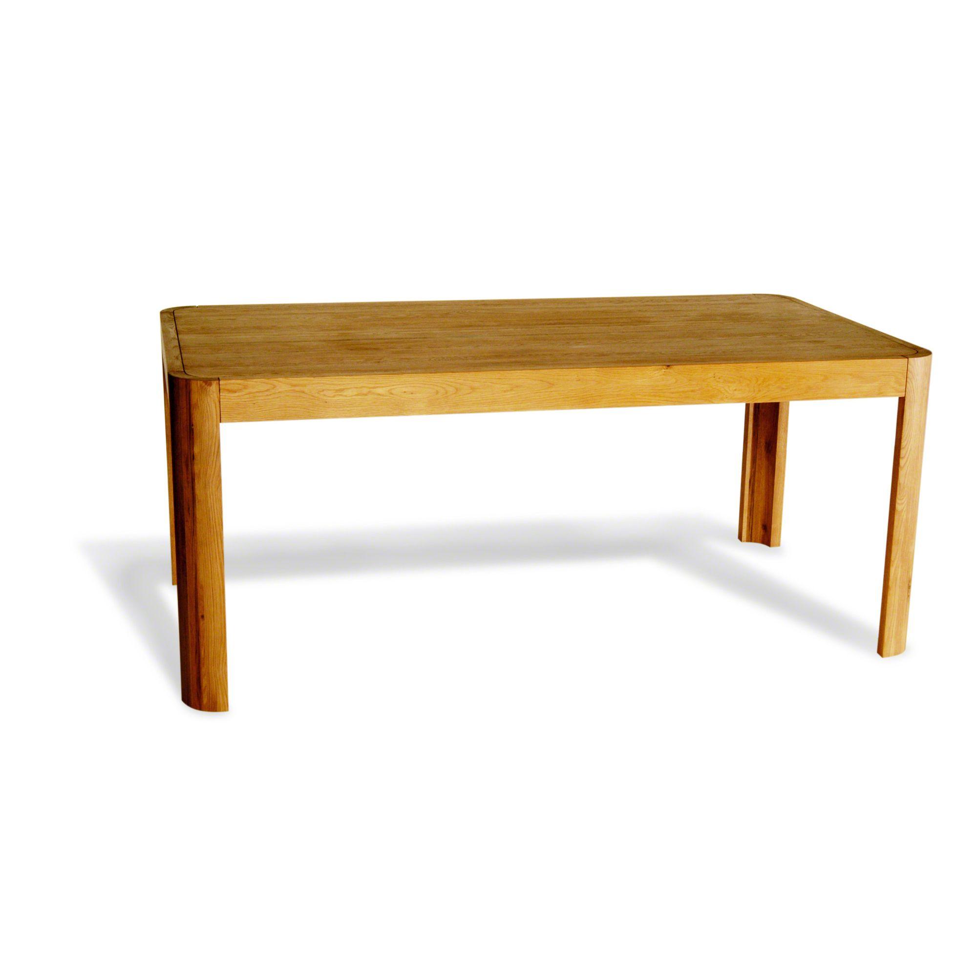 Oceans Apart Lounge Solid Oak Dining Table in Natural Oak - 180cm