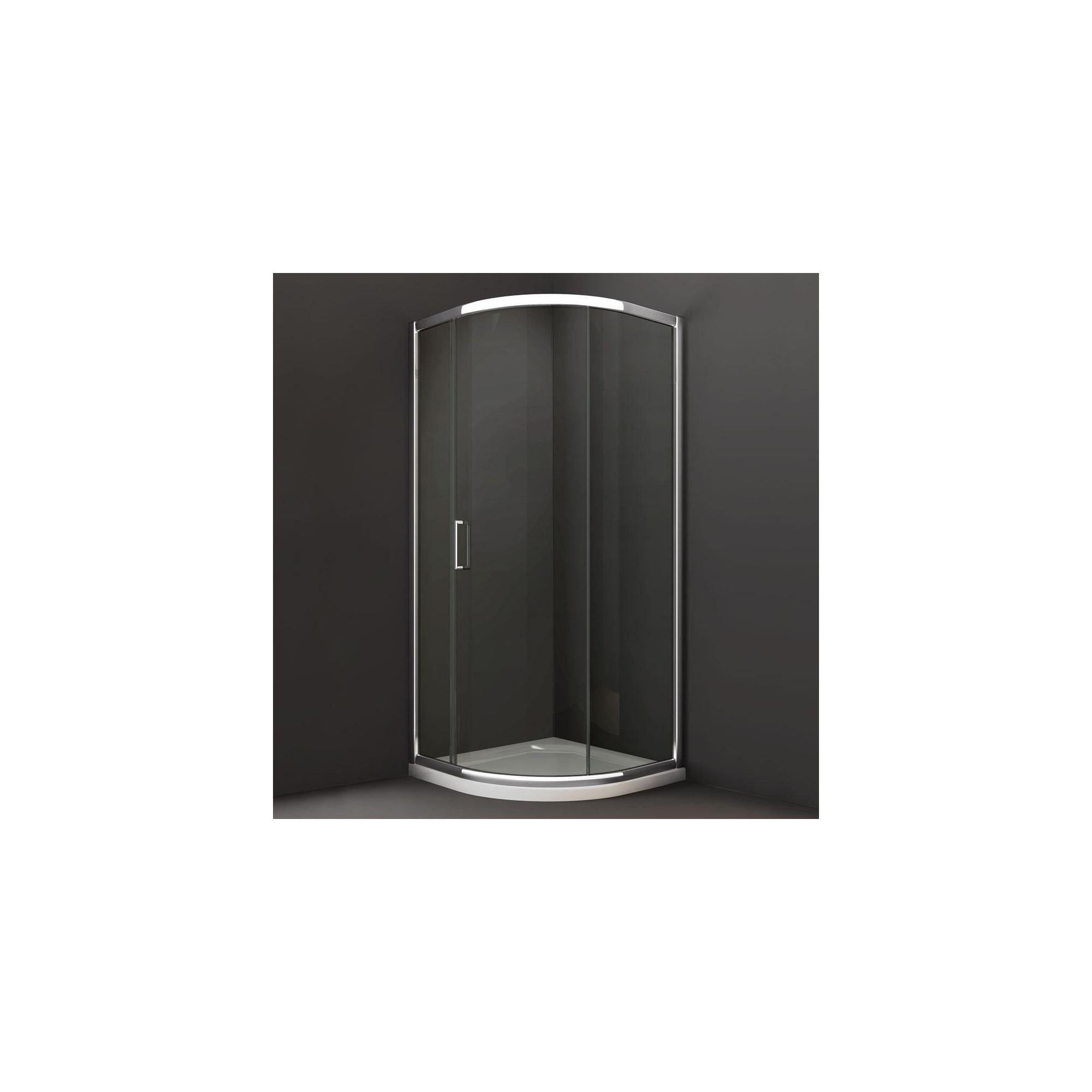 Merlyn Series 8 Single Quadrant Shower Door, 900mm x 900mm, Chrome Frame, 8mm Glass at Tesco Direct