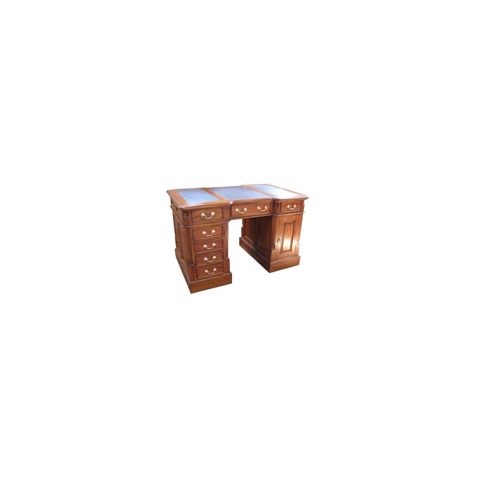 Lock stock and barrel Mahogany Small Pedestal Desk in Mahogany at Tesco Direct