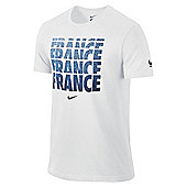 2014-15 France Nike Core Type Tee (White) - White