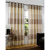 Rio Ready Made Eyelet Lined Curtains - Beige