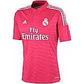 2014-15 Real Madrid Adidas Away Football Shirt - Pink