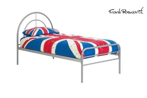 Frank Bosworth Sally Single Bed Frame - Silver