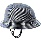 YAKKAY Tokyo Blue Stripe Helmet Cover: Small (53-55cm).