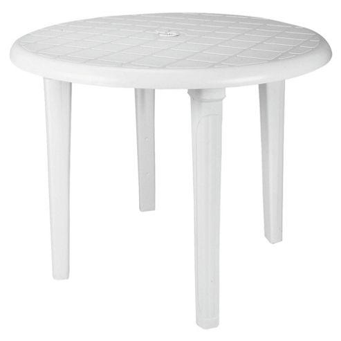 Plastic Table White Round 90cm