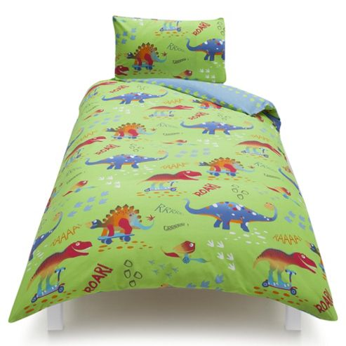 buy tesco kids dinosaur single duvet set from our kids. Black Bedroom Furniture Sets. Home Design Ideas