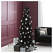 Festive Regency Slim Black Fir Christmas Tree, 6.5ft