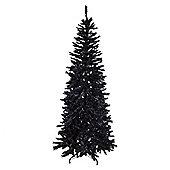 Festive Regency Slim Black Fir Christmas Tree, 6.5ft