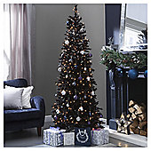 6.5ft Slim Christmas Tree, Regency Black Fir