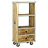 Baumhaus IRC01B Roadie Chic Oak Low Bookcase