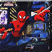 Spiderman Marvel's Ultimate Spider-Man Spidey Flies Across The City Canvas Print