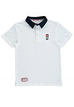 England Classics Collection Kids Polo Shirt - White