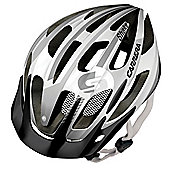 Carrera E0444 Shake MTB Helmet Rear Light Matt White/Silver Small Medium 54-57cm