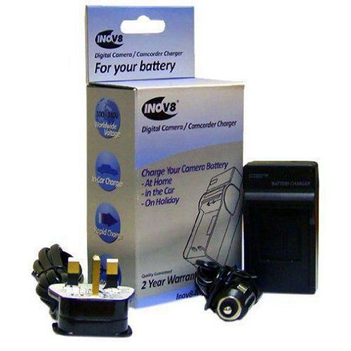 Inov8 Olympus LI-70B Travel Battery Charger (12V in-Car Adapter)