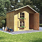 Mad Dash Peardrop Xtra Wooden Playhouse 6 x 7 (With Internal Bunk)