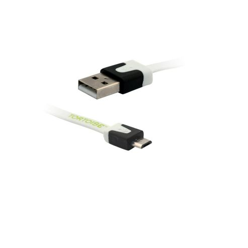 Tortoise™ Look Micro USB Data & Charging Cable White