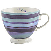 Splash Stripe Footed Mug, Fine China