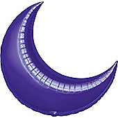 Purple Crescent Balloons - 35' Foil Balloon (3pk)