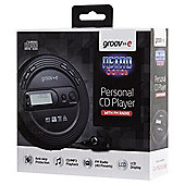 Groov-e Portable CD Player with Radio, Black