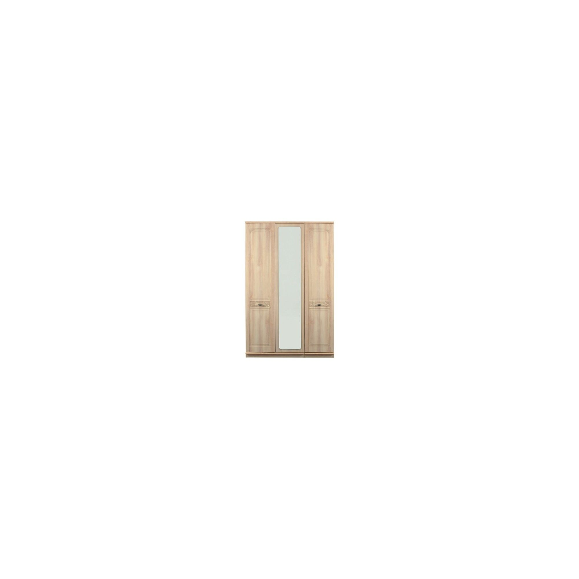 Caxton Florence 3 Door Centre Mirror Wardrobe in Washed Oak Effect at Tesco Direct