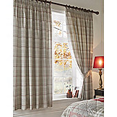 Tatton Patchwork Red Thermal Lined Curtains - 168x183cm