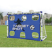 6 Foot Portable Childrens Soccer Target Shot Football Training Goal