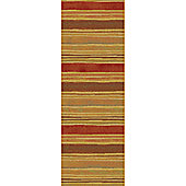 Mastercraft Rugs Galleria Beige Red Stripe Rug - 80cm x 150cm